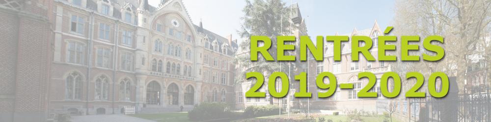 Calendrier Universitaire Lille 3 2019.Dates De Rentrees Universitaires 2019 2020 Les Facultes De